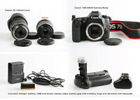 Canon 70D DSLR + lens + accessories LIKE NEW