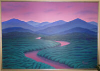 Large modern picture River through Mountains