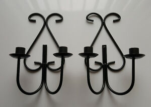 2 Metal Candle Holders