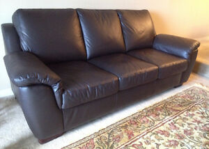 Sofa and Loveseat-Genuine leather-Made in Canada