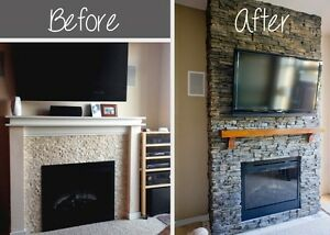 FIREPLACE RENOVATIONS /REMODELLING   ... FROM DRAB TO FAB