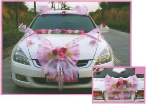 Wedding decoration kit for car - Pink or Purple