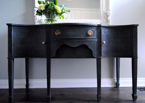 Refinished charcoal sideboard
