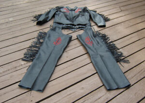 Women's Leather Jacket & Chaps XXL