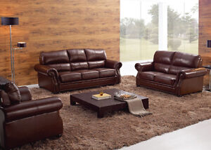Genuine Leather modern sectionals/recliners and ottoman London Ontario image 2