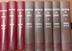 24 numéros de la collection « Civilisation du Québec »