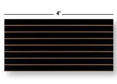 2 Slatwall Easy Panels - 24 H X 48 W Black Finish
