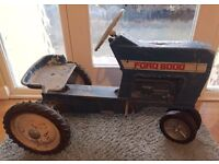 Rare Etrl cast alloy Vintage Ford pedal tractor