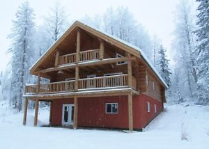 Beautiful log structure on five acres