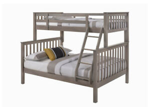 Single over Double Bunk Bed, Solid Hardwood, by Bunk Beds Canada
