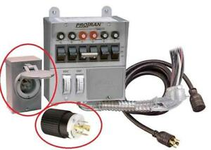 Reliance Controls 31406CWK Pro/Tran 6-Circuit 30 Amp Generator Transfer Switch Kit Condition: Incomplete - missing parts