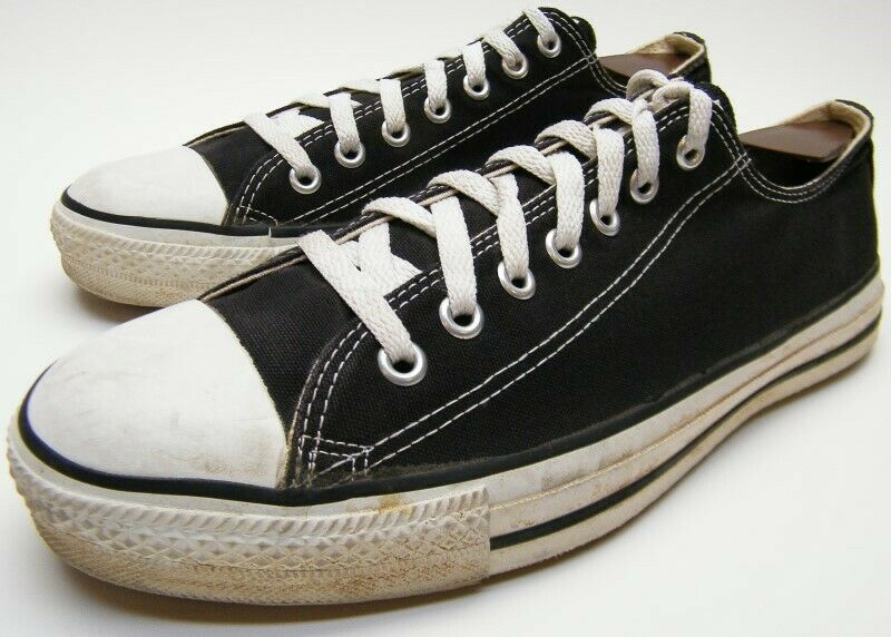 Details about MENS VINTAGE CONVERSE ALL STAR BLACK MADE IN THE USA LOW BASKETBALL SHOES SZ 10