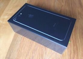 BRAND NEW IN BOX - IPHONE 7 256GB - JET BLACK (UNLOCKED) - DELIVERED IN LONDON