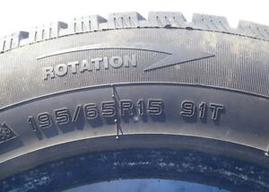 "4 x DURATION WINTERQUEST 195/65/R15"" Studdable Snow Tires Peterborough Peterborough Area image 4"