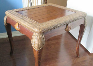 Pair of Brown Rustic Pine Side Tables-Excellent Cond