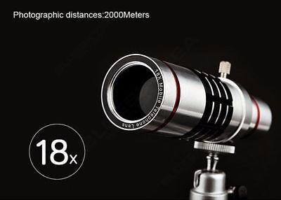 18x Optical Zoom Telescope Camera Lens Kit Tripod For Mobile Phone Iphone 6s Plu