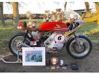 6 Times World Champion MBE Jim Redman's Racing 1972 Honda CR750.