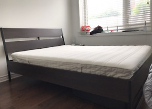 TRYSIL Bed Frame + HASVAG Mattress + 2 VARDO Drawers (9/10)