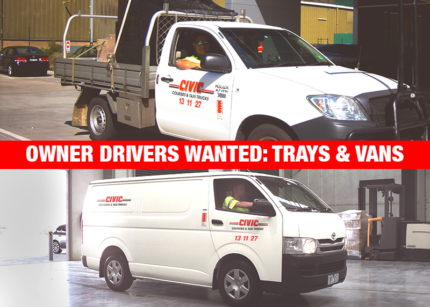 TRAYS AND VANS - OWNER DRIVERS WANTED Clayton Monash Area Preview
