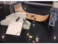 Tech deck Ramps and skateboards.