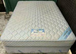 Excellent Sleep Maker brand double bed mattress with base for sale #4