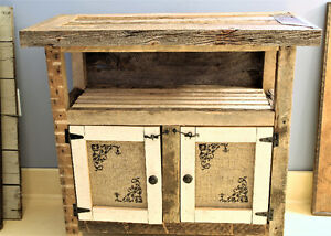 SOLD--RUSTIC CABINET, HANDMADE FROM RECLAIMED BARN BOARD