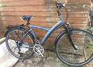 "Btwin elops Hybrid Bike. 20"" frame size. 700c wheels. All working"