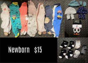 Huge Lot of Boy Clothing (Newborn-18 Months)