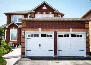 INSULATED CARRIAGE GARAGE DOORS.............. $800 INSTALLED
