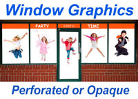Window Graphics | Storefront | See-Through Vinyl | Frosted