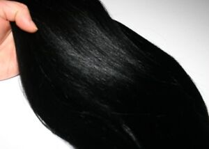 20 inch BLACK 100% human hair extensions