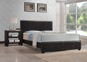 LEATHER LOOK BED FRAME FOR $139