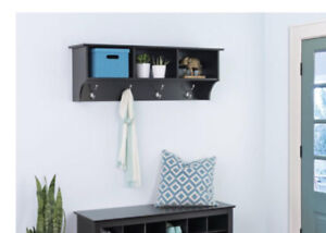 entry way shelf and coat hanger