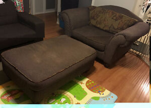 Oversize King Chair with ottoman (Oakburn, MB)