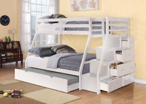 huge sale of solid wood bunk beds & mattresses.good for cottages