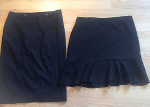 **TWO WOMEN'S BLACK SKIRTS FOR SALE-SIZE 12**