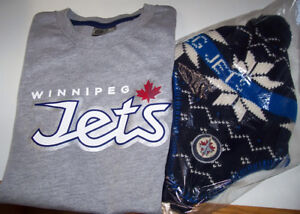 Winnipeg Jets Youth T-Shirt and Winter Head Cover Set London Ontario image 1