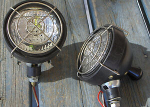 Two 36 Volt Par 36 Golf Cart/Jitney Work Lights