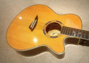 3/4 Size Acoustic Electric guitar - $145