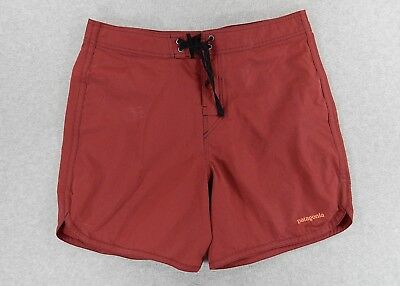 32c8f3d7fcccb Patagonia Cotton/Nylon Surf Swim SUP Beach Shorts (Mens 35) Red