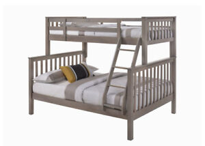 Nootka Bunk Bed - Solid Wood Twin Full in 2 Colors, 4 All Ages.