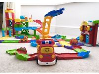 VTECH TOOT TOOT DRIVERS, CARS, GARAGE, FIRE STATION, FIRE ENGINE, TRACK.