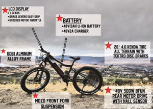 Electric fat bike - 500W - Ebike - Shipping and Taxes included