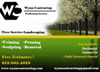 ·TREE SERVICE · LANDSCAPING·Spring is here get a discount today!