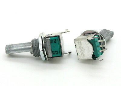 2 x 9mm ALPS B20K 20K Linear Taper Potentiometer 20mm D Shaft Vertical PC Mount, used for sale  China