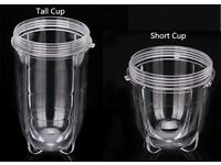 MAGIC BULLET TALL AND SHORT CUP ALSO BOTH SET OF BLADES