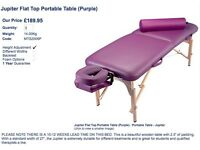 £50, Grey Jupiter Flat Top Portable Table from the massagetablestorecom - in need of reupholstering