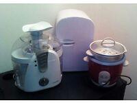Kitchen accessories: 6l mini fridge refrigerator, juicer and Crockpot rice cooker steamer