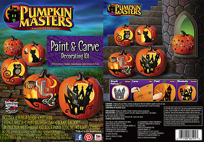 Pumkin Carving Kit (Pumkin Masters-Brand New Paint & Carve Pumpkin Decorating Kit - Carving Fun)