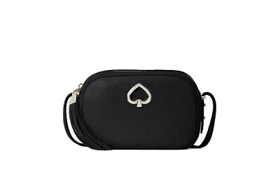 Kate Spade Black, Pebbled Leather, Kourtney Camera Bag NWt